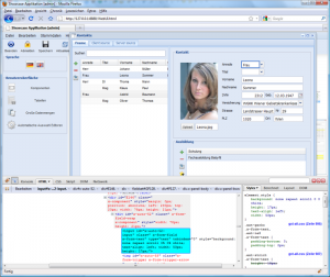 WebUI contacts firebug