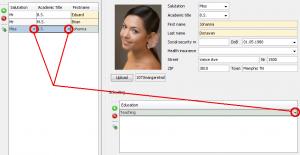 Link Cell Editor mark