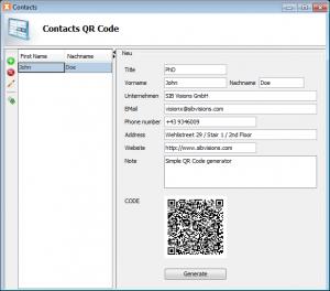 QR code generation