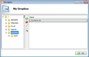 Dropbox access with JVx