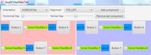 Standard FlowPane (centered nodes)