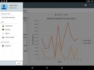 mobile fxUI menu