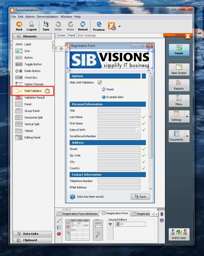 VisionX Validators - Toolbox