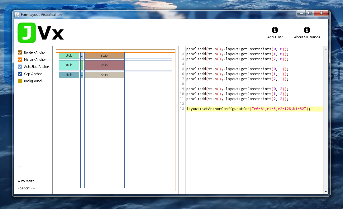FormLayout with a set anchor configuration