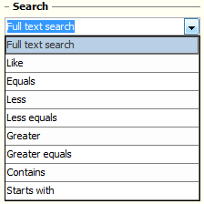 Search options
