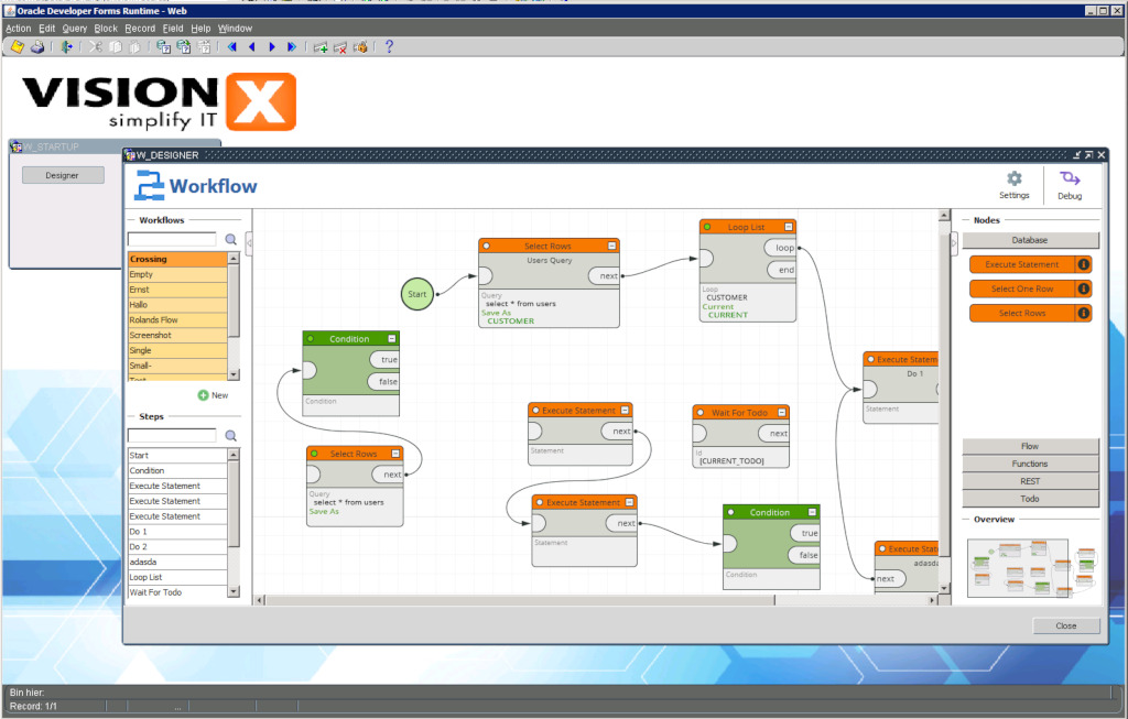 Workflow Engine for Oracle Forms « Blog @ SIB Visions