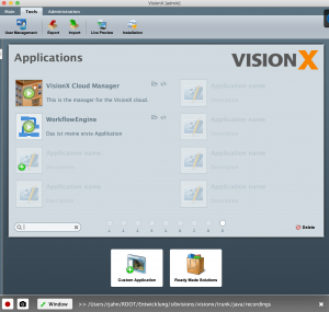 VisionX with recorder